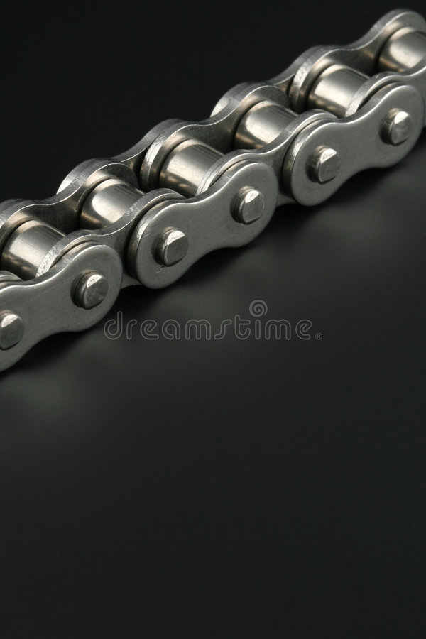 Corrente de ligação do metal foto de stock royalty free