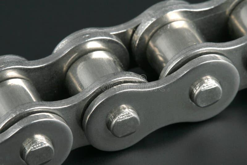 Corrente de ligação do metal imagem de stock