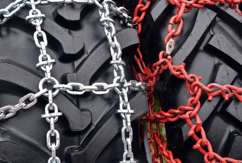 Corrente de pneu imagens de stock