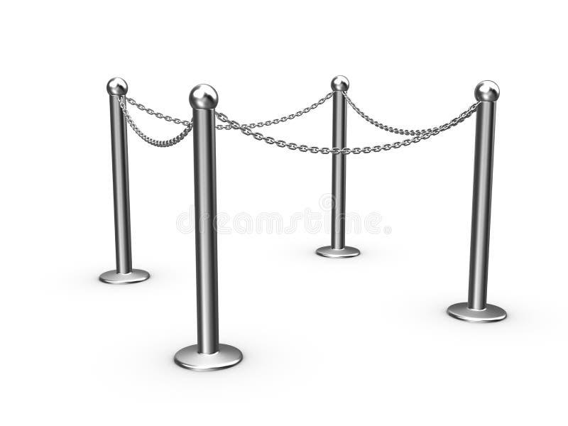 Corrente de segurança, barreira ilustração do vetor