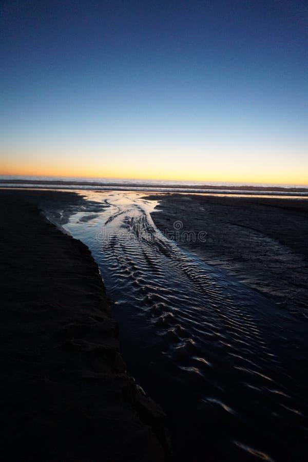 Corrente di acqua modellata fotografie stock