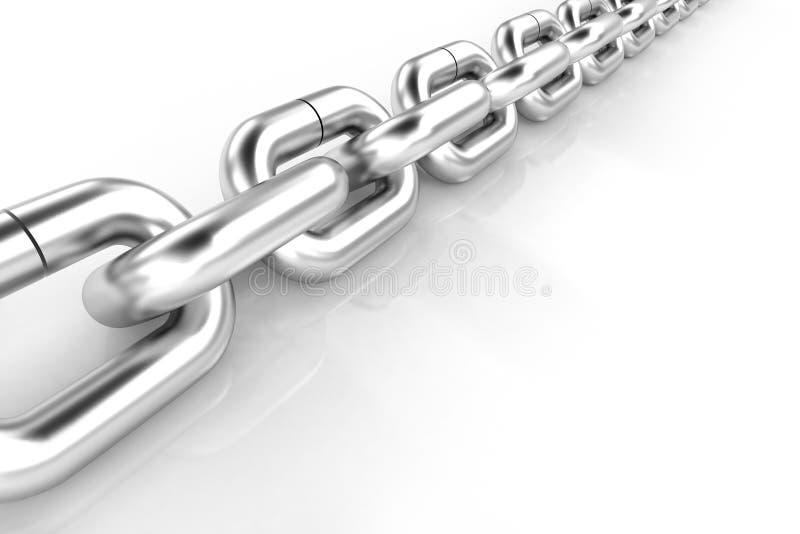 corrente do metal 3d no fundo branco ilustração royalty free