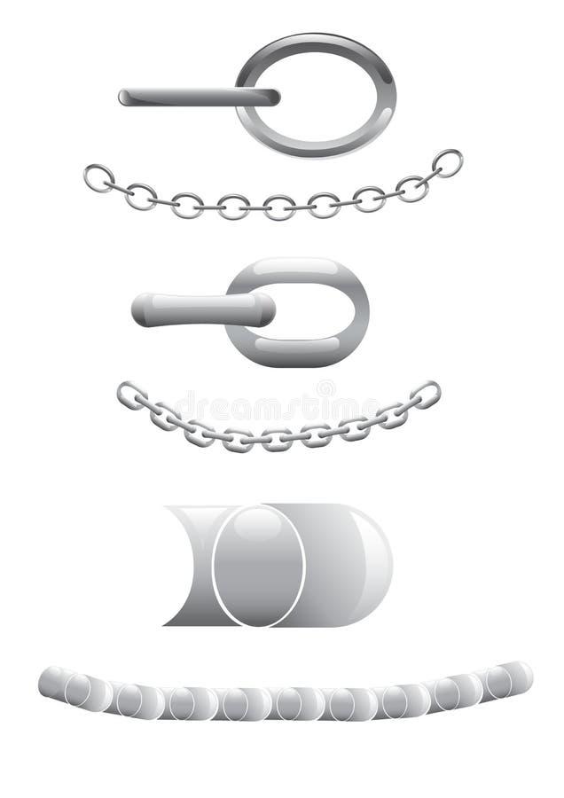 Corrente do metal ilustração stock