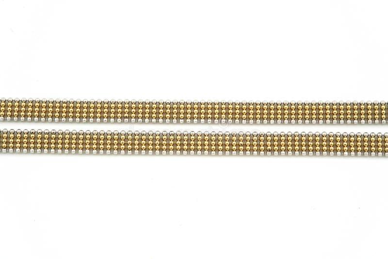 Corrente do ouro de Jewelery fotos de stock royalty free