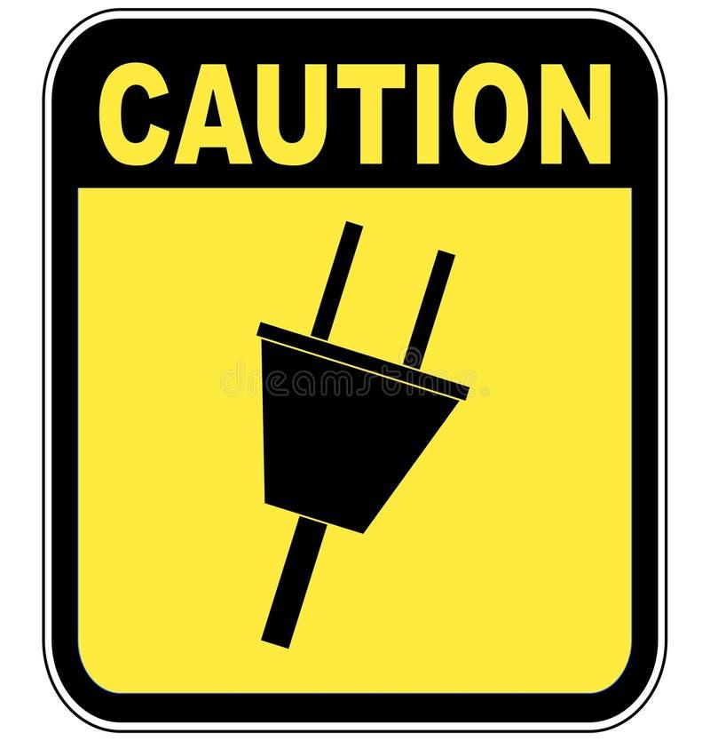 Corrente elettrica di avvertenza illustrazione di stock