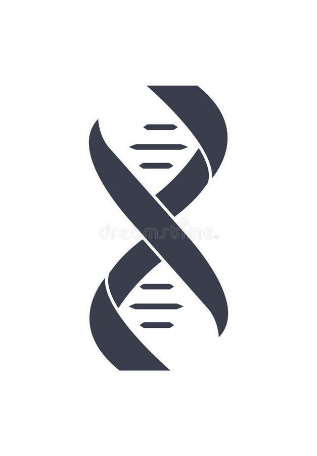 Corrente Logo Design Icon do ácido Deoxyribonucleic do ADN ilustração royalty free