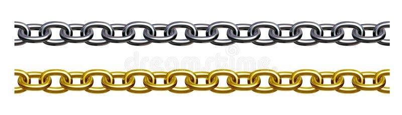 Corrente (ouro e prata) ilustração royalty free
