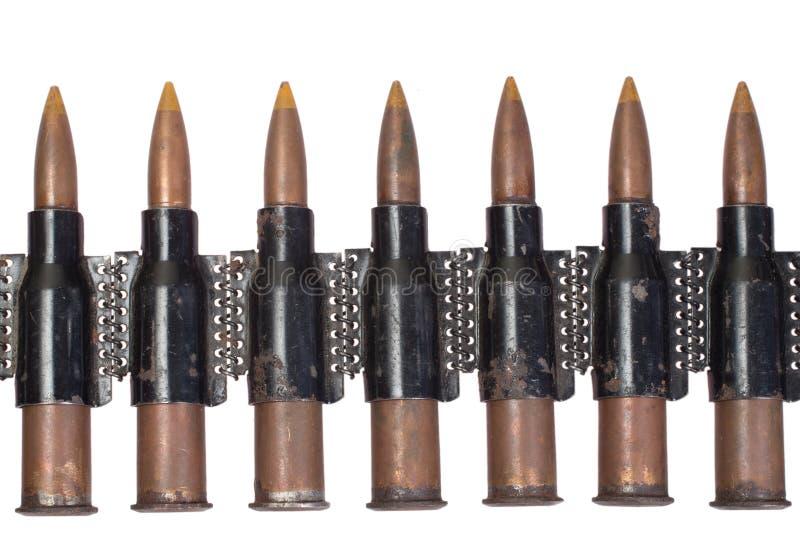 Corrente preta da munição imagem de stock