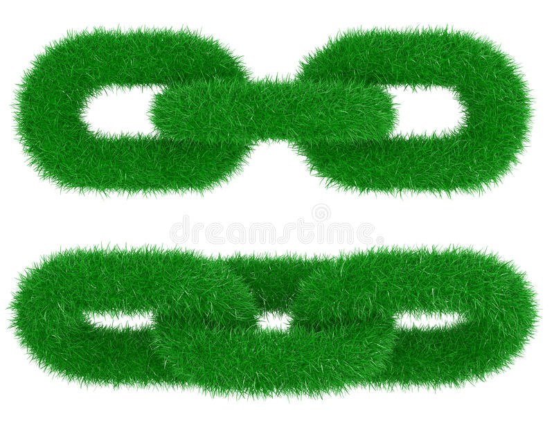 Corrente verde de uma grama ilustração stock