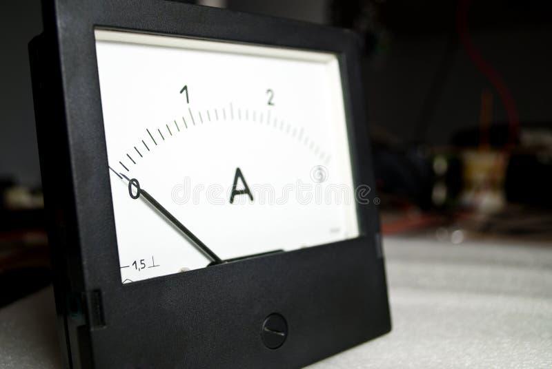 Corrente zero amperometro fotografie stock