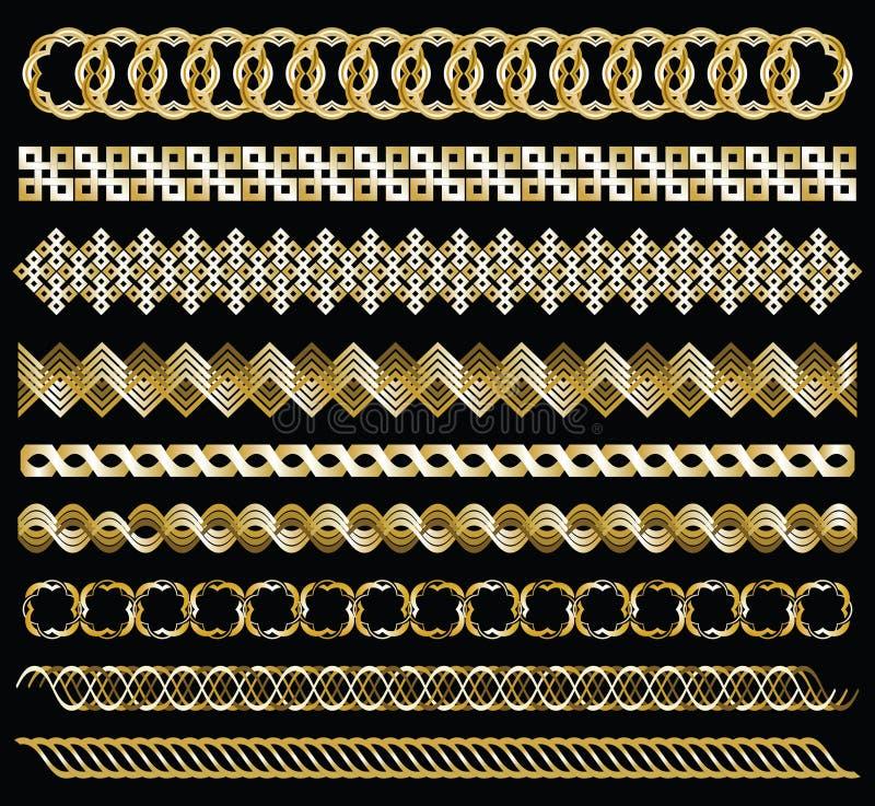 Correntes do ouro ilustração royalty free