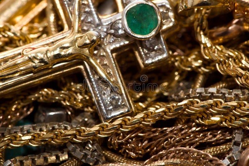 Correntes do ouro fotos de stock royalty free