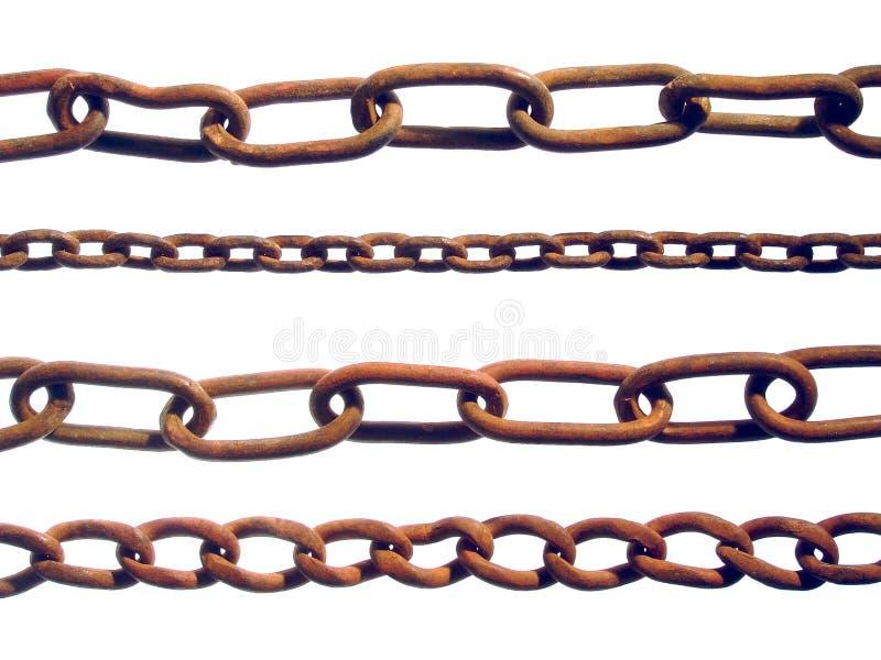 Correntes oxidadas fotografia de stock