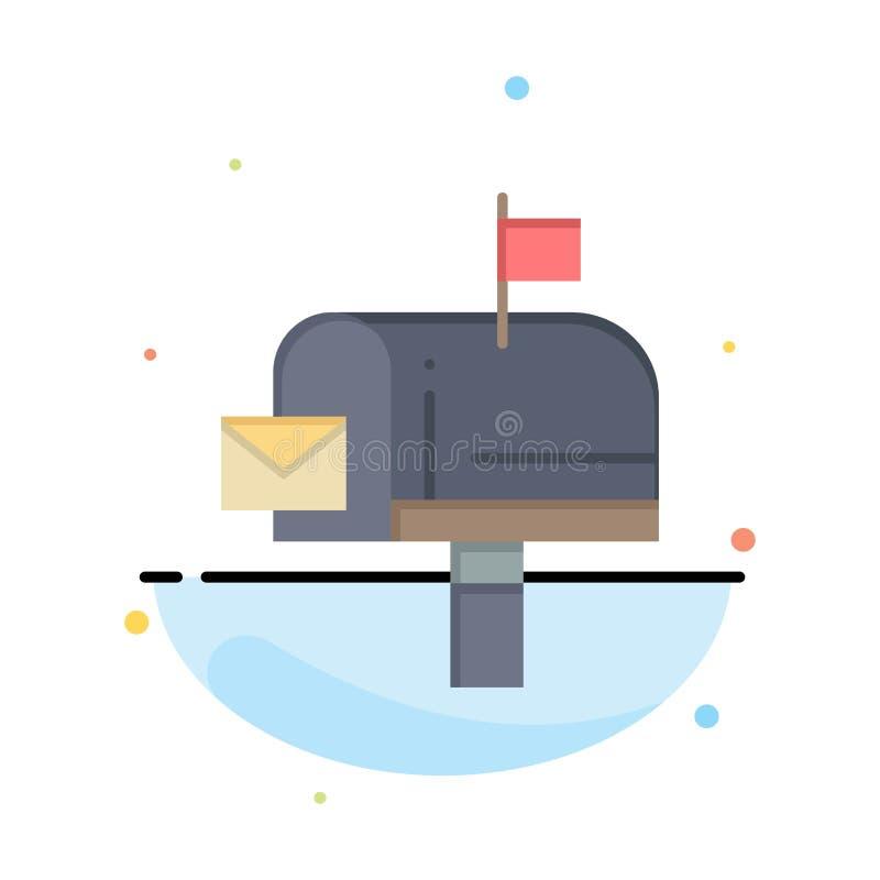 Correo, caja, mensaje, negocio Logo Template del correo electrónico color plano libre illustration