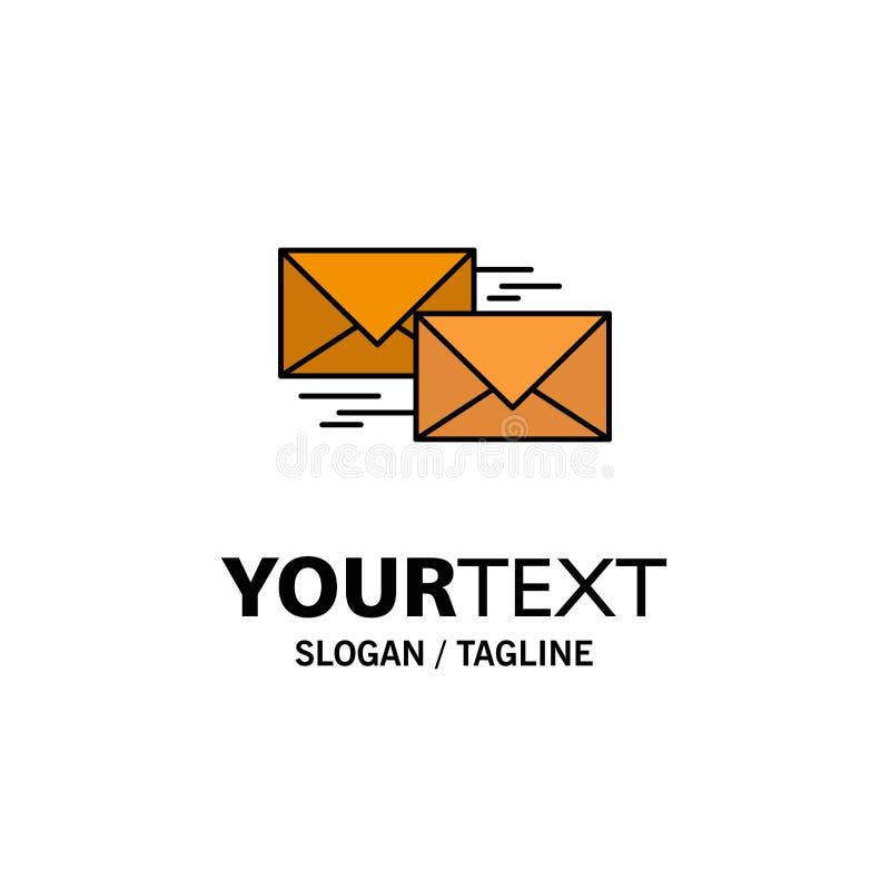Correo, contestación, delantera, negocio, correspondencia, negocio Logo Template de la letra color plano stock de ilustración