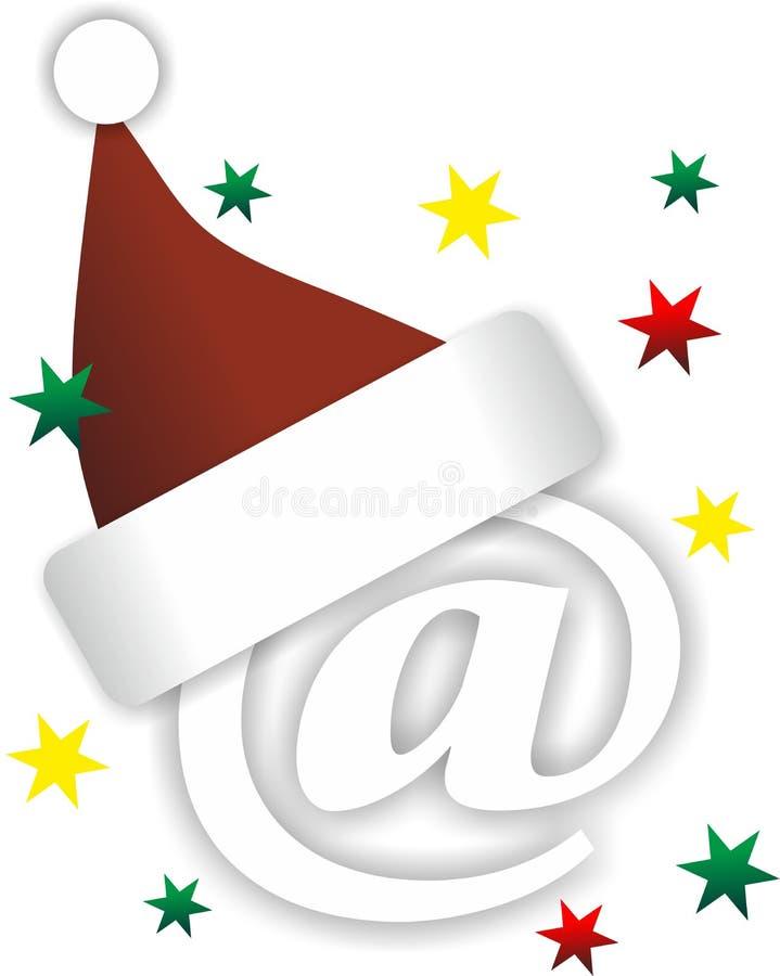 Correo de la Navidad stock de ilustración
