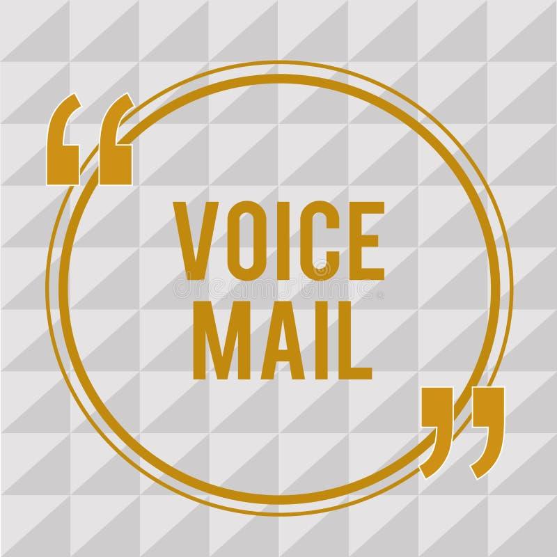 Correo de voz del texto de la escritura Sistema electrónico del significado del concepto que mensajes de la tienda de visitantes  stock de ilustración