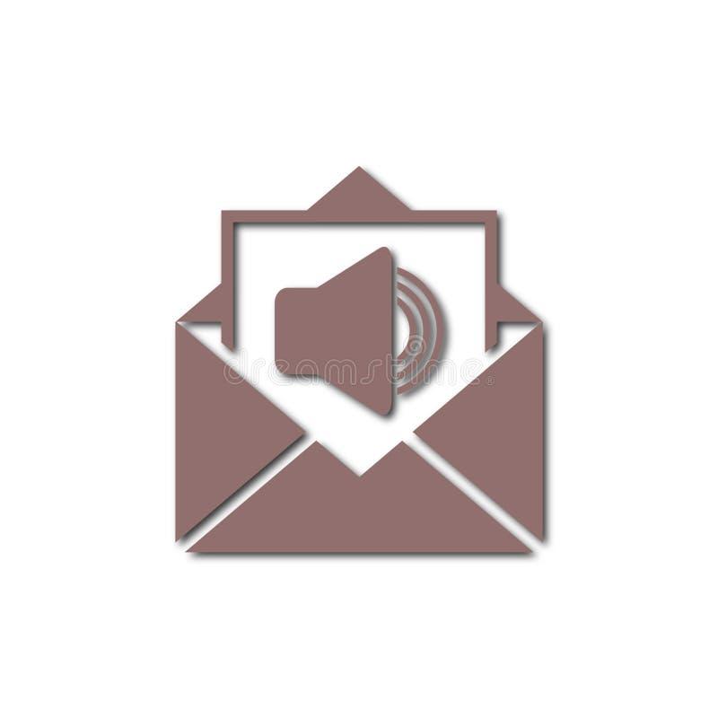 Correo de voz, símbolo del Presidente, icono audio del mensaje ilustración del vector