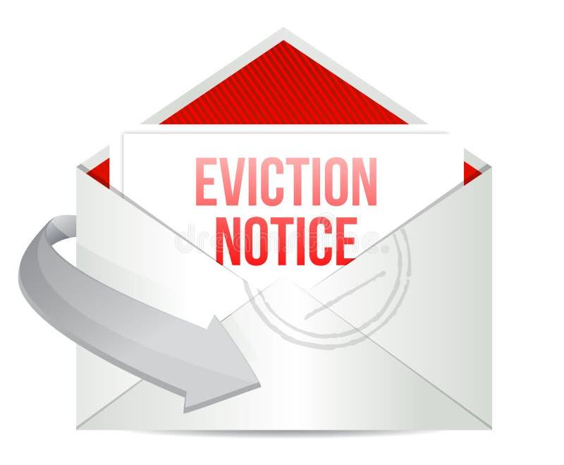 Correo del aviso del desahucio o diseño del ejemplo del correo electrónico ilustración del vector