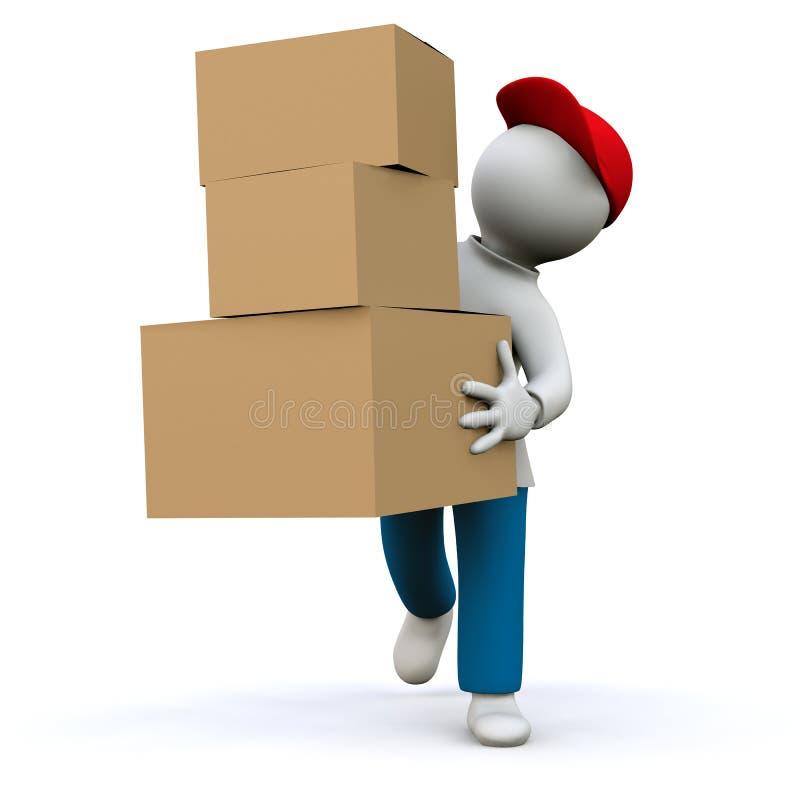 Correo del paquete stock de ilustración
