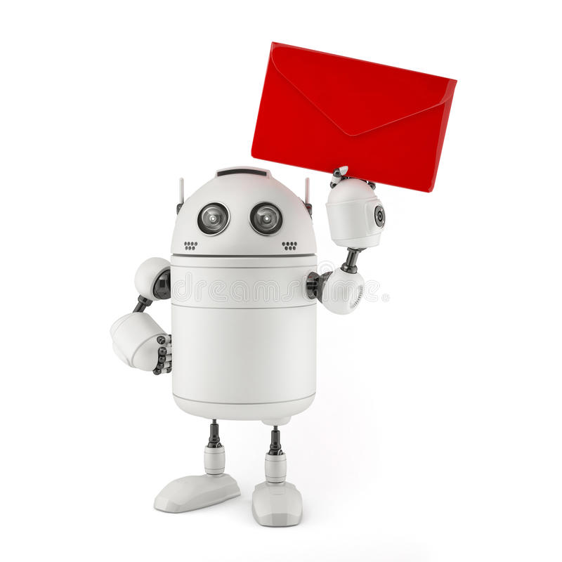 Correo del rojo del ingenio del robot libre illustration