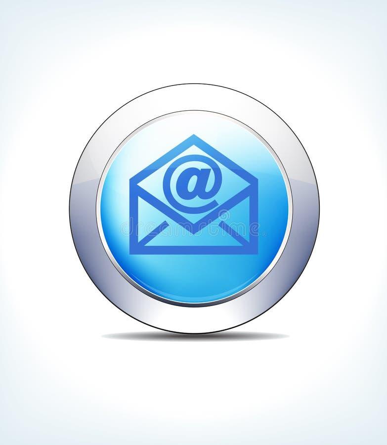 Correo electrónico azul del botón del icono para la atención sanitaria y las presentaciones farmacéuticas stock de ilustración