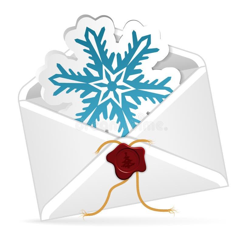 Correo electrónico de la Navidad ilustración del vector