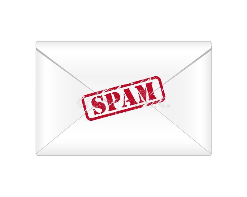 Correo electrónico del Spam ilustración del vector
