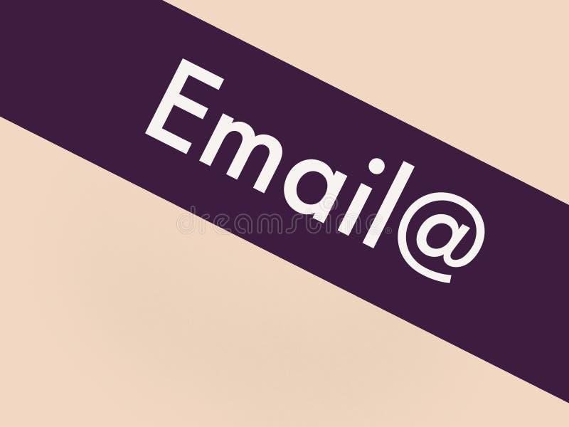 Correo electrónico a la tarifa en una línea azul libre illustration