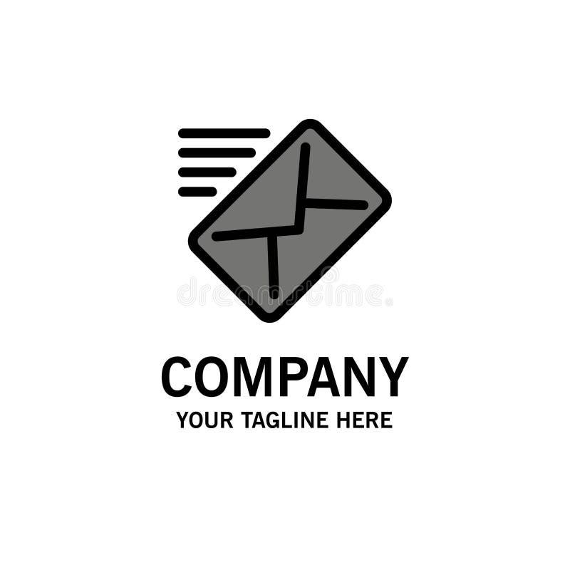 Correo electrónico, correo, mensaje, enviado negocio Logo Template color plano libre illustration