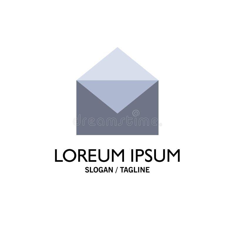 Correo electrónico, correo, mensaje, negocio abierto Logo Template color plano stock de ilustración