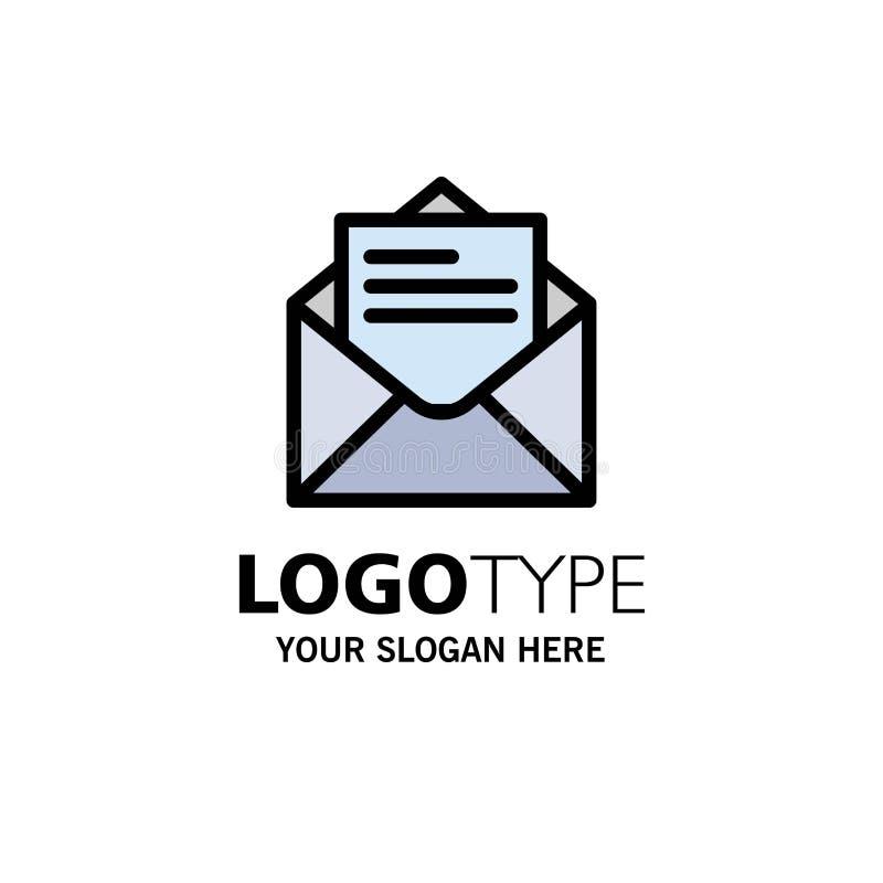 Correo electrónico, correo, mensaje, negocio Logo Template del texto color plano stock de ilustración