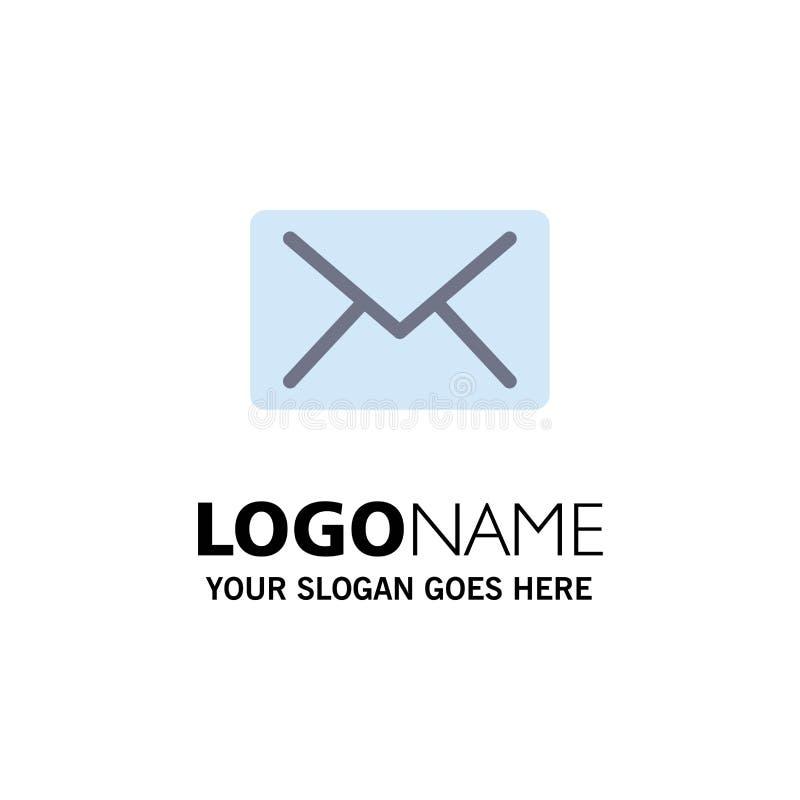 Correo electrónico, correo, negocio Logo Template del mensaje color plano libre illustration