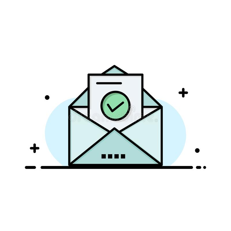 Correo, correo electrónico, sobre, enseñanza Logo Template color plano libre illustration