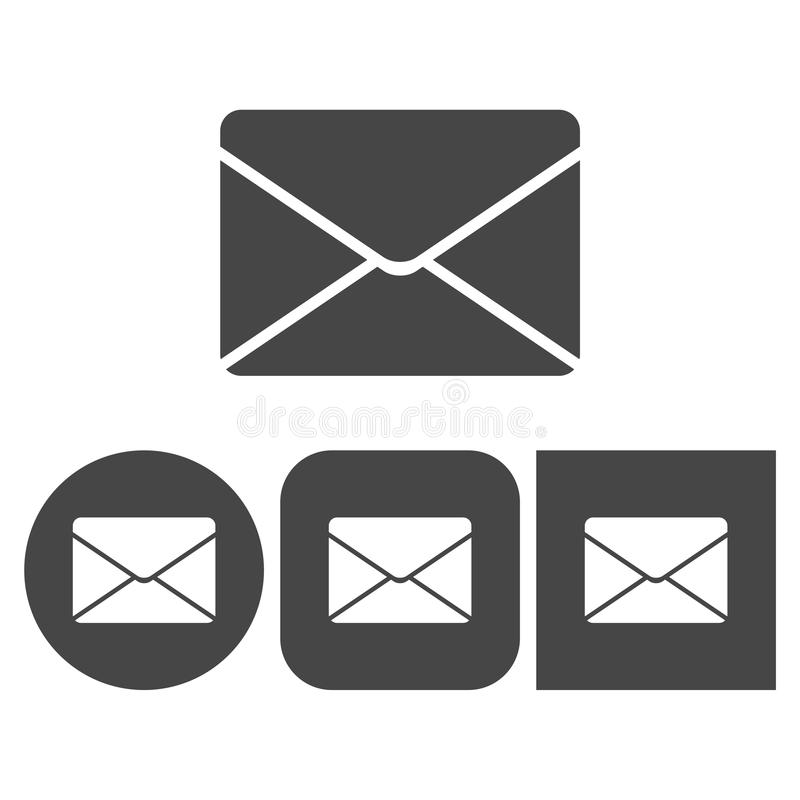 Correo - icono del vector ilustración del vector