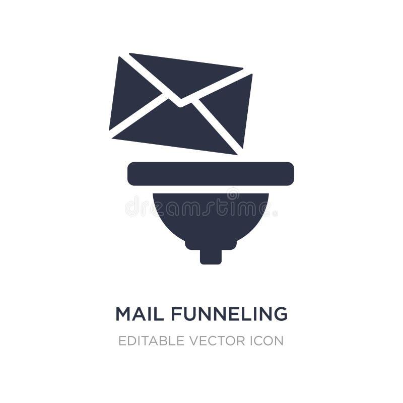 correo que concentra el icono en el fondo blanco Ejemplo simple del elemento del concepto de las multimedias libre illustration