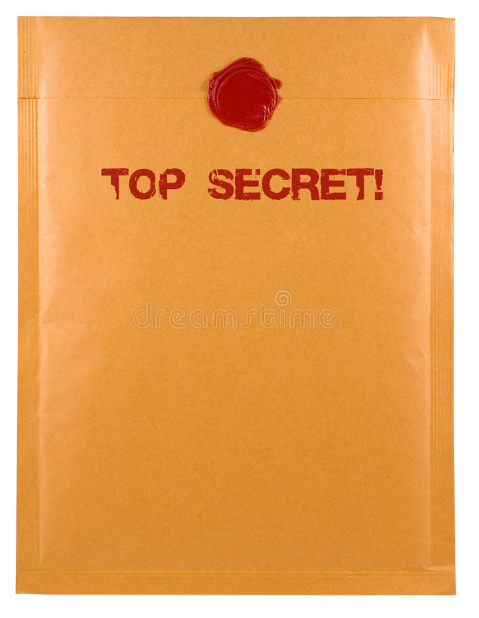 Correo secretísimo foto de archivo