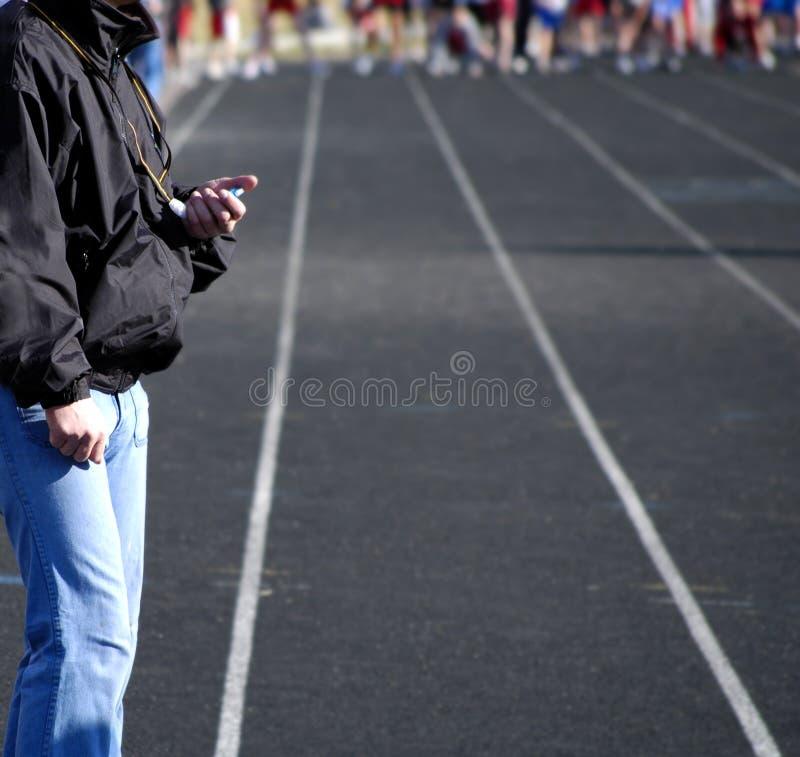 Correr una carrera foto de archivo
