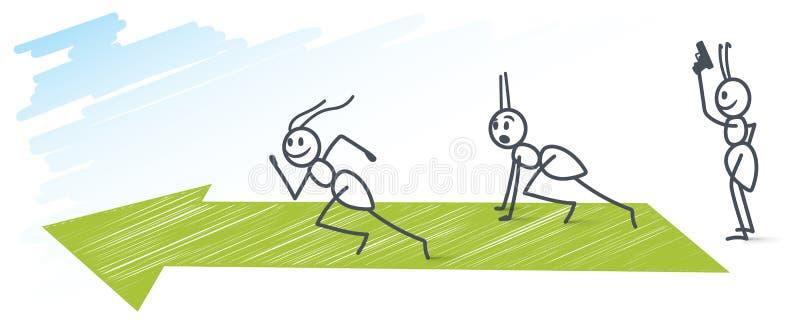 Correre delle formiche illustrazione vettoriale