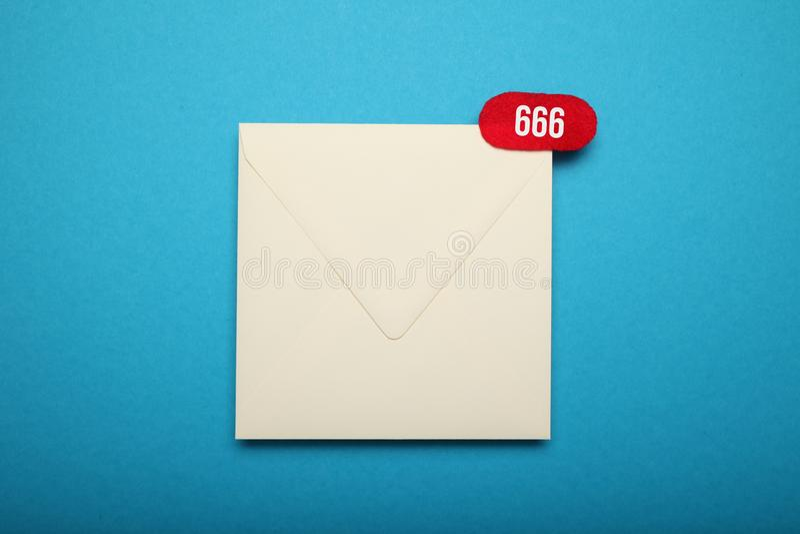 Correspondência do acessório do endereço Rede social global Envelope liso imagem de stock