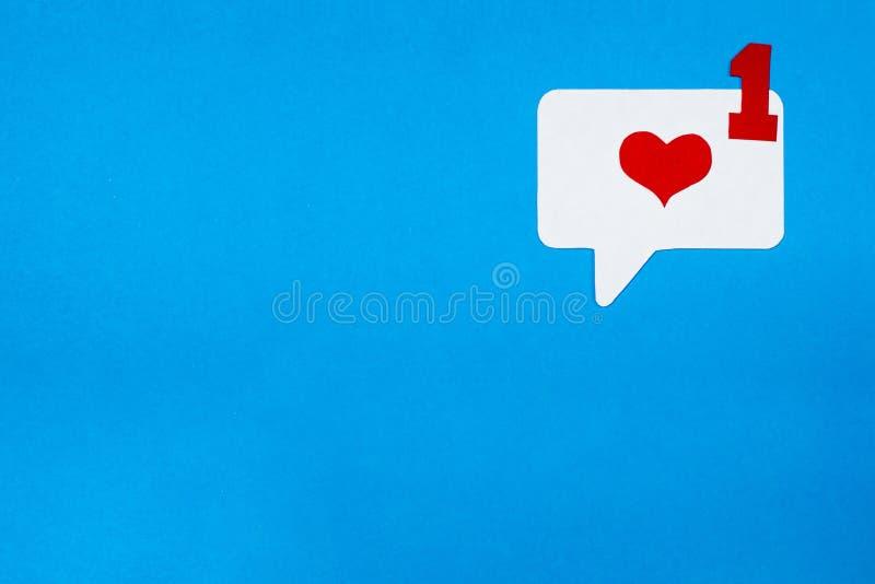 Correspondência do amor no formulário eletrônico Conceito social do bate-papo dos meios fotos de stock
