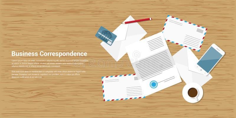 Correspondance d'affaires illustration stock