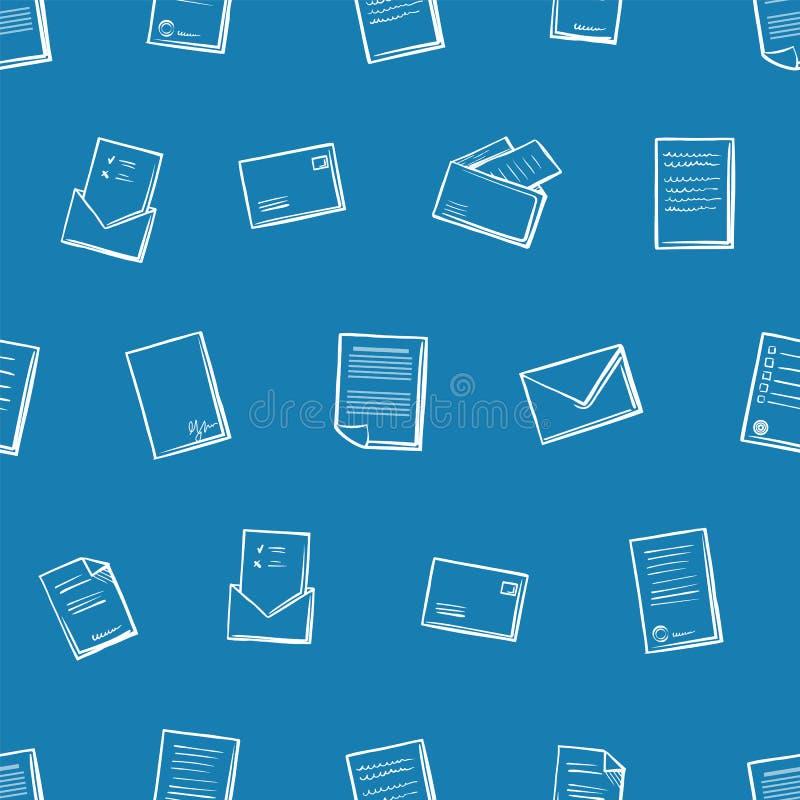 Correspondance de bureau et vecteur de modèle de papiers illustration de vecteur