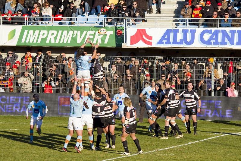Correspondance Perpignan de rugby contre Brive photos stock