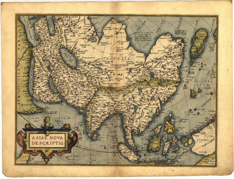 Correspondencia antigua de Asia stock de ilustración