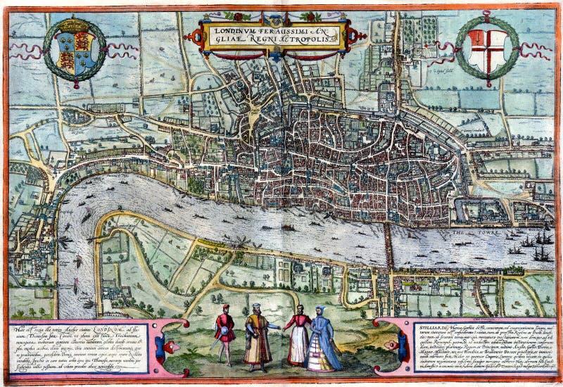 Correspondencia antigua de Londres ilustración del vector