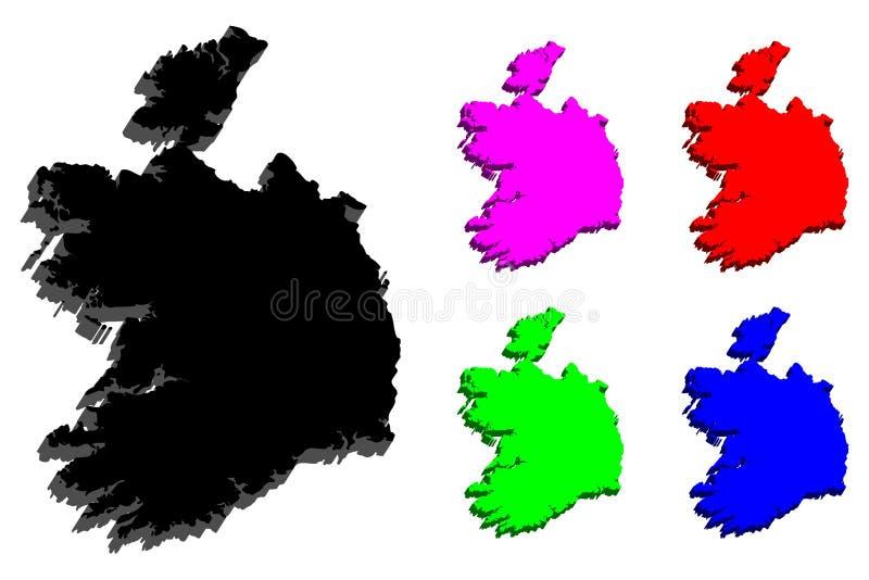 correspondencia 3d de Irlanda stock de ilustración