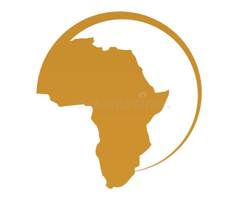 Correspondencia de África ilustración del vector