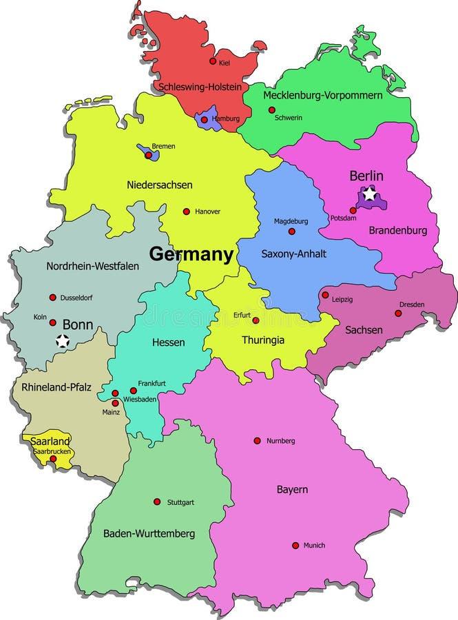 Correspondencia de Alemania en el fondo blanco stock de ilustración