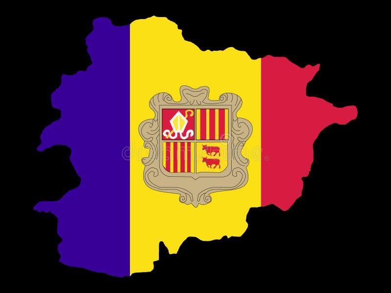 Correspondencia de Andorra ilustración del vector